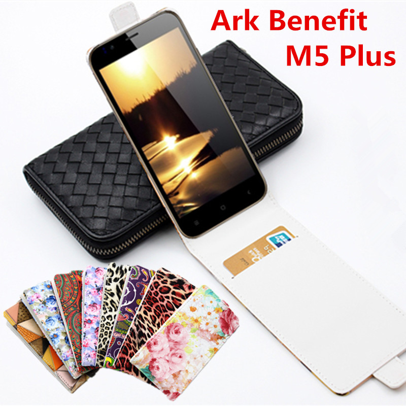 Free Shipping Luxury Classical Colorful Leather case For ARK Benefit M5 Plus Flip Cover Case Housing With Card Slot Phone Cases(China (Mainland))