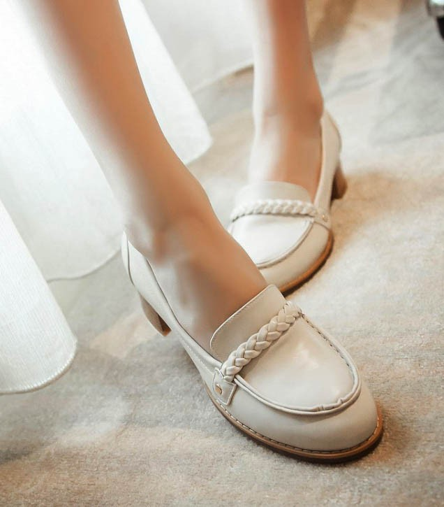 Fashion women high heel  loafer shoes single shoes