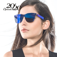 Buy 20/20 Brand Unique Style Sunglasses Women Sexy Flat Lens Rimless Square Frame Sun Glasses Women Shades Vintage Oculos Gafas for $14.85 in AliExpress store