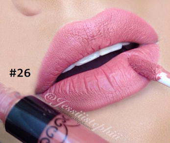 1pc Matte lipstick Smudge Free Lip Gloss Water Proof Long Lasting Lips Makeup Color 26(China (Mainland))