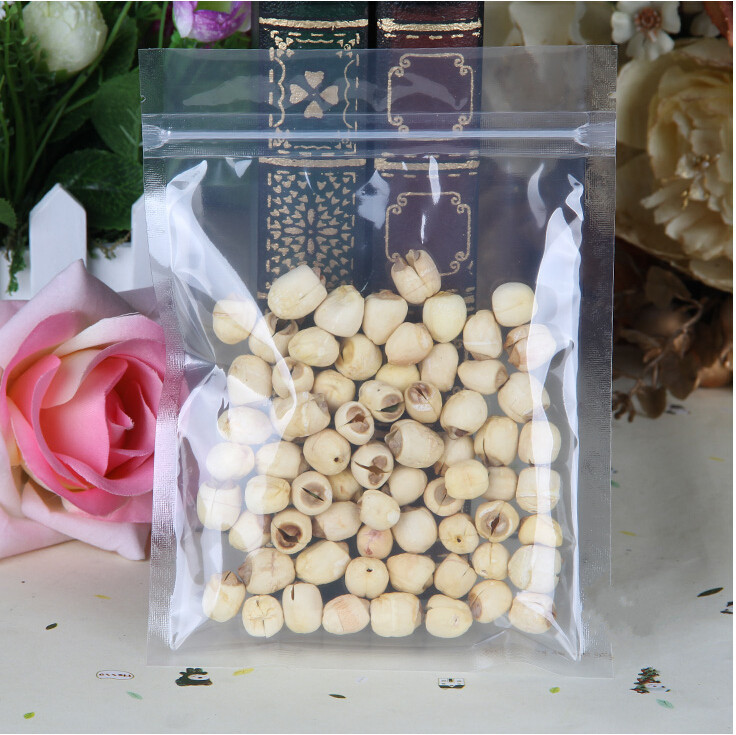 100pcs X 14*20cm High translucency and clear reclosable ZipLock PET plastic bag,Clarity pouch zipper Grip seal for food grade(China (Mainland))