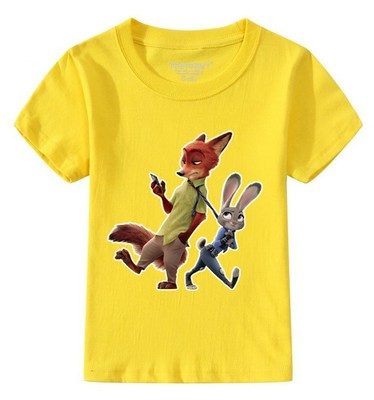 font b boys b font clothes children font b clothing b font zootopia t shirt