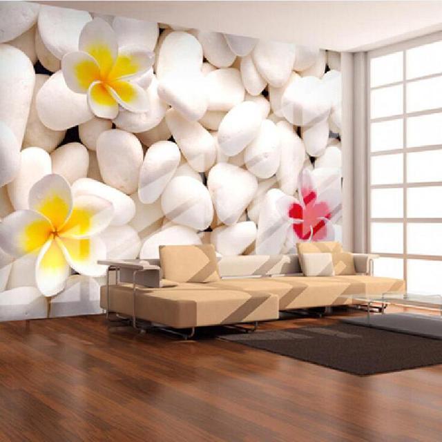 Grande muraille 3d pierre papier peint peintures murales pour salon grand 3d - Insonoriser une chambre ...