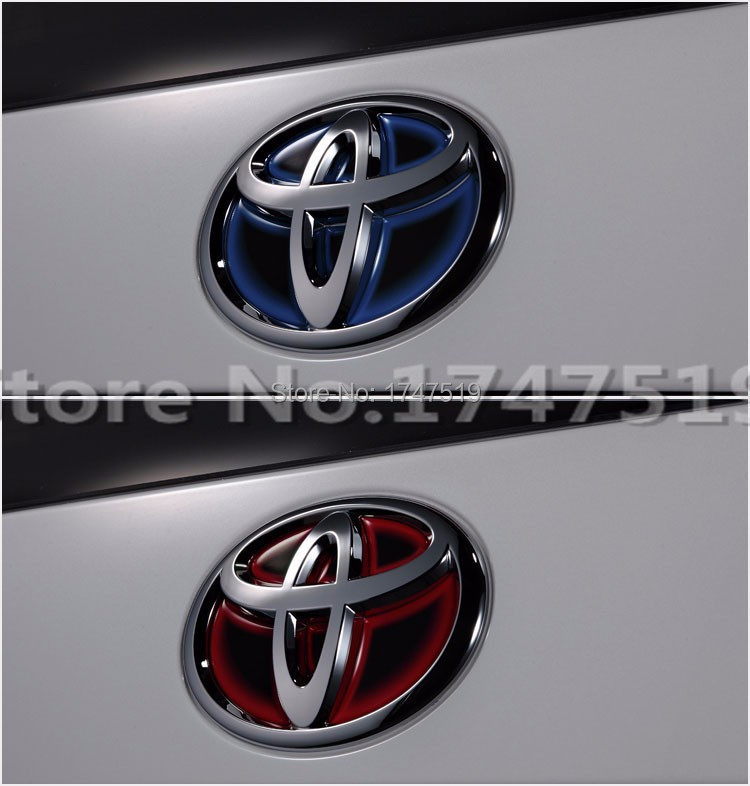 08-2015 3D Toyota Modification logo stickers Car styling Sticker on car steering wheel sticker Accessories(China (Mainland))