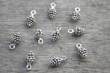 Buy 30pcs--Pine Cone Charms, Antique Tibetan Silver Tone 3D Mini Pine Cone charm pendants 14X7mm for $2.20 in AliExpress store