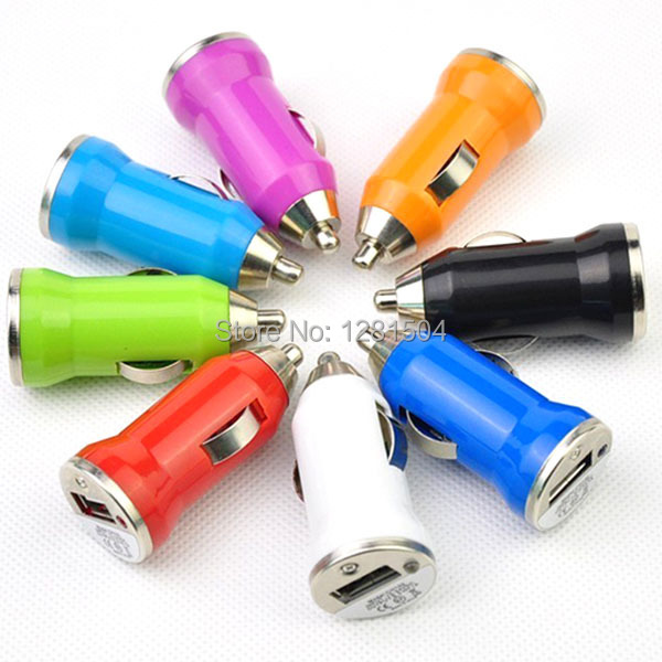 Hot Sell Universal Colorful Mini USB Car Auto Charger Adapter For IPhone 6 Plus 4 5S IPod ITouch HTC Samsung Blackberry 300pcs(China (Mainland))