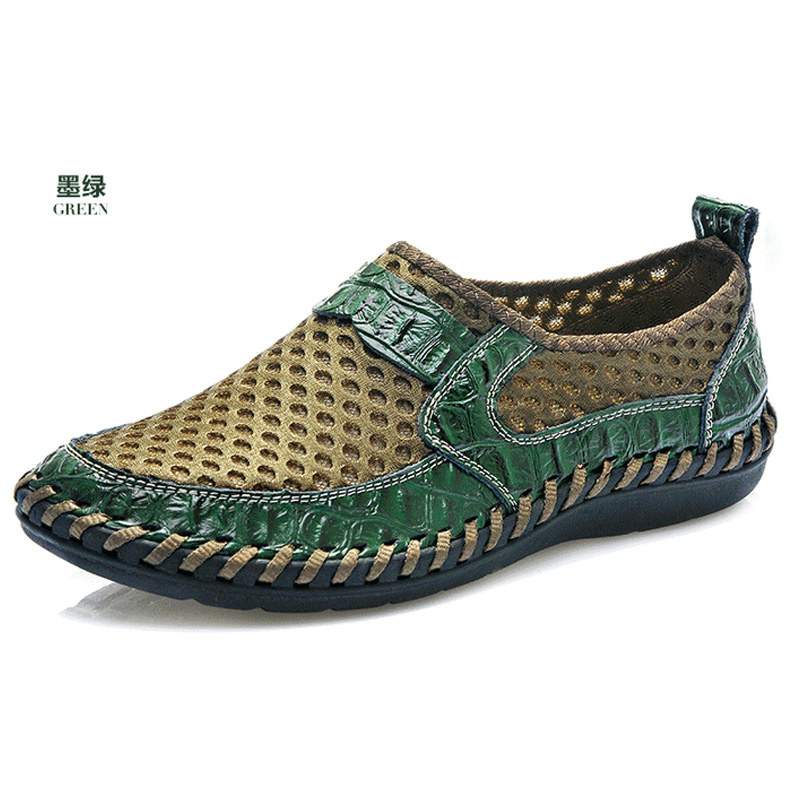 2015 Summer Men Slip Flats Fashion Breathable Mens Shoes Casual Sapatos Masculino Size 38 44 Blue Brown Blackish Green - Hong Kong Mansway Trade Co.,Limited store