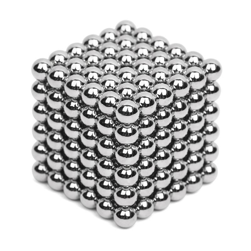 216pcs 5mm Silver Neodymium Magnetic Balls Neo Cube Magic Cube Puzzle Magnetic Balls NeoKub of magnetic beads without metal box(China (Mainland))