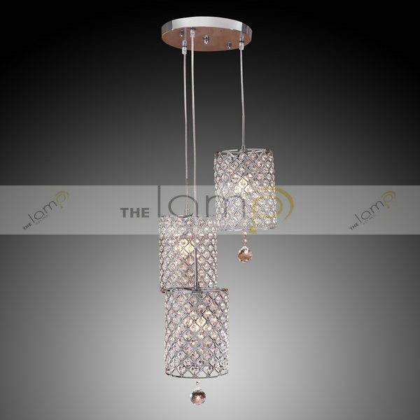 Free Shipping Contemporary Crystal Drop Pendant Light With