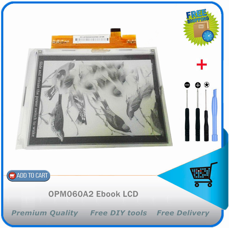 New 6.0 inch E-Book Reader Panel OPM060A2 Ebook LCD Screen Display Free shipping + diy tools<br><br>Aliexpress