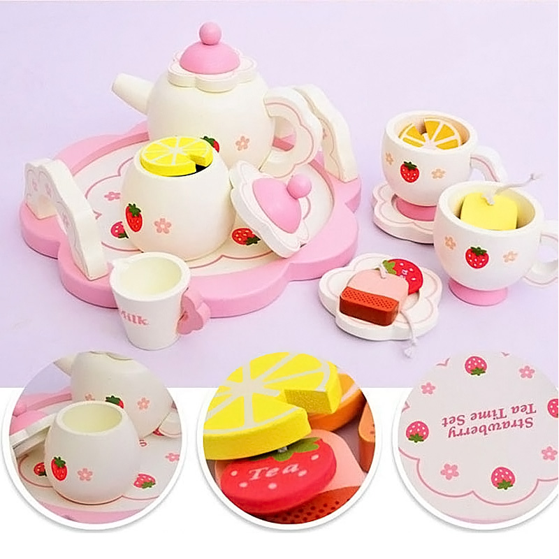 2016 Wooden Kitchen Toys Vegetables &Fruits Baby Cooking Pretend Play House Toys for Girls Children Christmas Gift_ PH013N