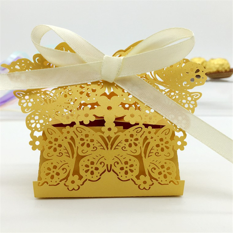 Flower Butterfly Wedding Candy Box Wedding Favors and Gifts Boxes Souvenirs Wedding Hawaiian Party Decor Ideas regalos de boda(China (Mainland))