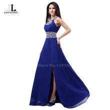 Neue Art Und Weise A-linie O-ansatz Side Split Pailletten Elegante Lange Formale Abendkleider 2016 Vestido De Festa Longo S322(China (Mainland))