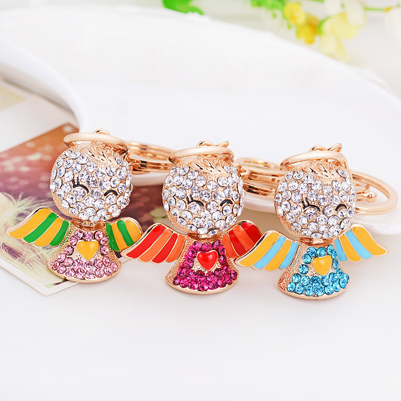 Creative's latest angel pendant keychain car ornaments small gift bag factory direct merchandise(China (Mainland))