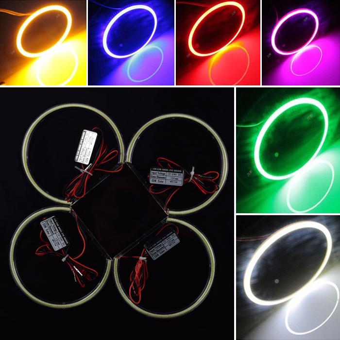 New 4 * 131MM LED COB Angel Eye Halo Light Error Free for BMW E46 E39 E38 E36 White 3 5 7 series Free Shipping(China (Mainland))