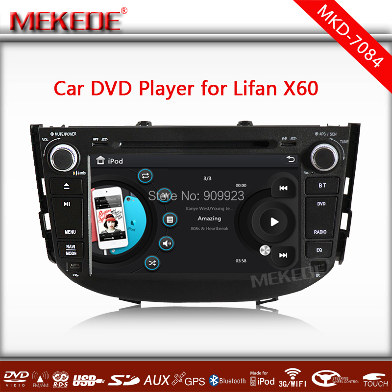 Hot sell+Free shipping Lifan X60 Car DVD GPS Player with GPS Navigation TV Bluetooth Radio V-CDC Russian menu language,MAP gift<br><br>Aliexpress