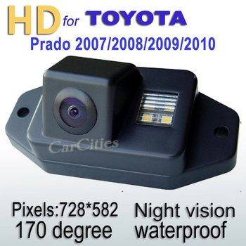 CCD HD Car Parking Camera170 degree for TOYOTA prado 2007/2008/2009/2010 Waterproof  shockproof Night version Size:78*37*32