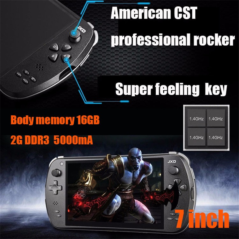 GamePad JXD S7800B Tablet PC Android 4.4 RK3188 Quad Core 7 inch 1280*800 IPS 2GB/16GB Camera Game Player Consoles S7800(China (Mainland))