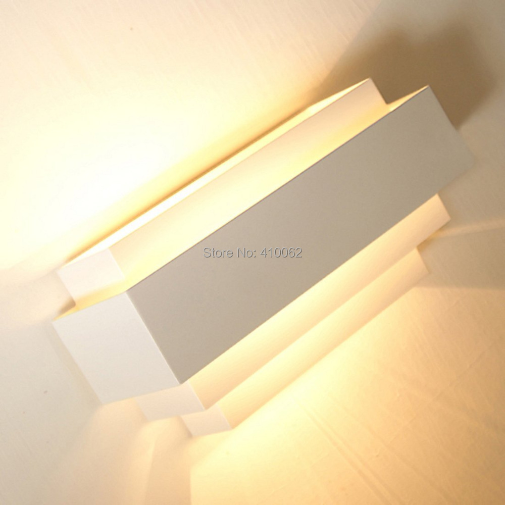 Contemporary Up And Down Wall Light Wall Lamp Wall Sconces Curved White Sconce Lamp E27-in LED ...