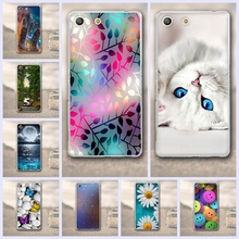Buy Sony Xperia M5 E5603 E5606 E5653 Case 3D Relief Painting Flower Cartoon Sony Xperia M5 Phone Bags Back Cover funda shell for $1.02 in AliExpress store