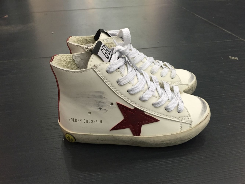 2016 Italy Brand Golden Goose Superstar Casual Shoes Men Women Genuine Leather GGDB SSTAR Shoes Smile White 100% ORIGINAL ITEM<br><br>Aliexpress