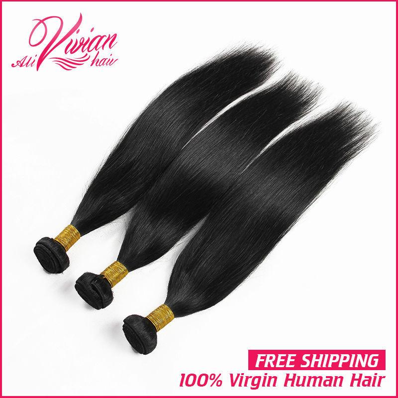 Virgin Indian Hair Straight 5A Indian Virgin Hair Mixed Length Unprocessed Indian Hair Bundles Cheap Human Hair Weave Online(China (Mainland))