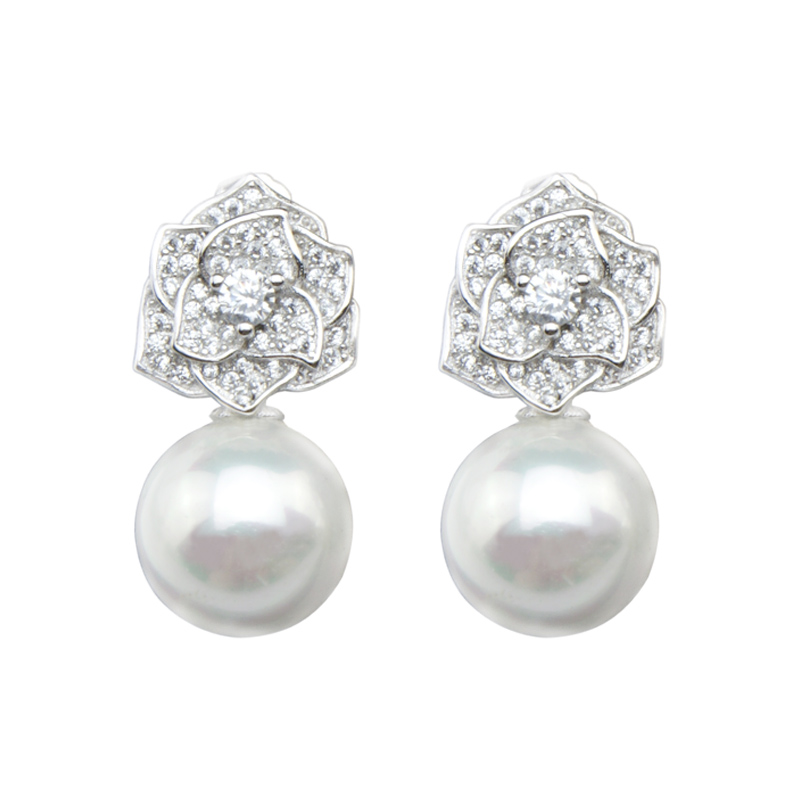 Top Shell beads drop earrings 925 Sterling jewelry earrings New Arrival Drop Earrings High Quality Wedding Earrings for Women(China (Mainland))
