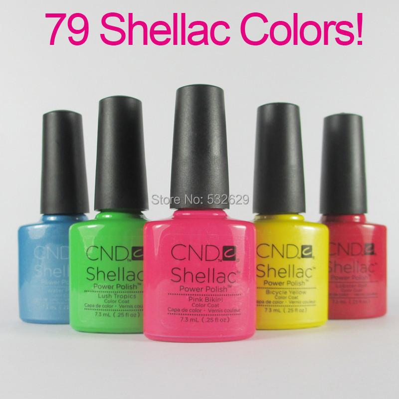 (You choose 6pcs)6Pcs/lot CND Shellac Soak Off UV LED Nail Gel Polish Free Shipping 79 Fashion Colors Gel Nail Polish(China (Mainland))