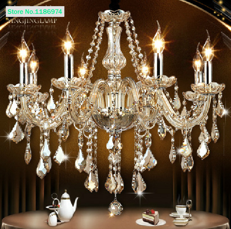 buy cognac modern crystal chandelier 8