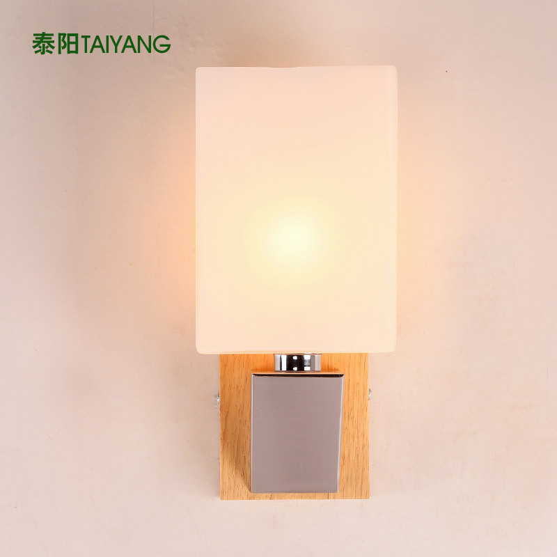 Bedside Wall Lamps : Bedside lamp bedroom wall lamp modern minimalist living room ideas Wooden Chinese wall lamp led ...