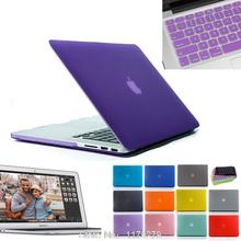 Matte Rubberized Hard Cover Case + European or US keyboard Protector for Mac book 11 13 15 For Macbook 11.6 13.3 15.4(China (Mainland))
