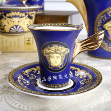 European royal style Bone China Tea Set coffee ceramic coffee cup and saucer sets porcelain gift