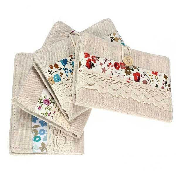 BuyCent Canvas Lace Fabric Card Pack Postcard Credit Card purse Card Cases(China (Mainland))