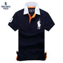 2015 Summer horse logo brand mens solid polo ralph shirt camisa masculina for men fashion man designer casual blusas tops tees(China (Mainland))