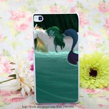 1484HQA Mermaid Unicorn Hard White Painted Case Cover Huawei Ascend P6 P7 P8 Lite Colorful Protective - the king of castle168 store