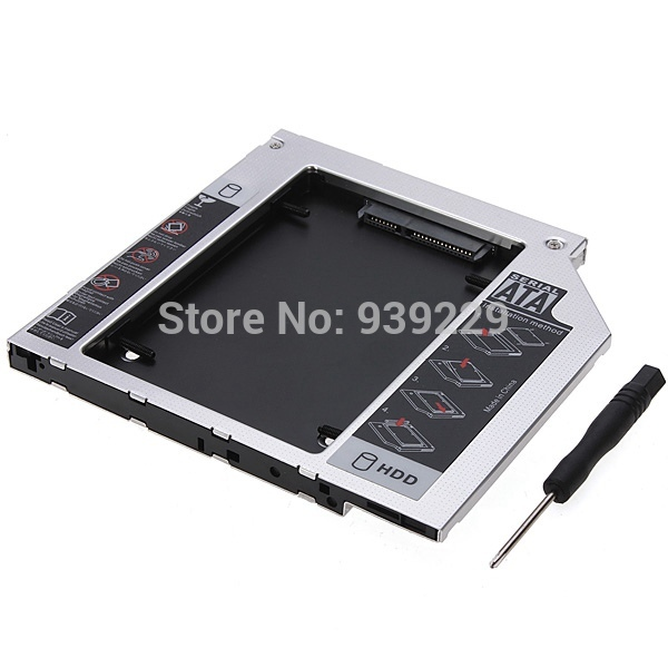 New SATA 2nd HDD HD Hard Driver Caddy for 9.5mm Universal CD / DVD-ROM Optical Bay(China (Mainland))