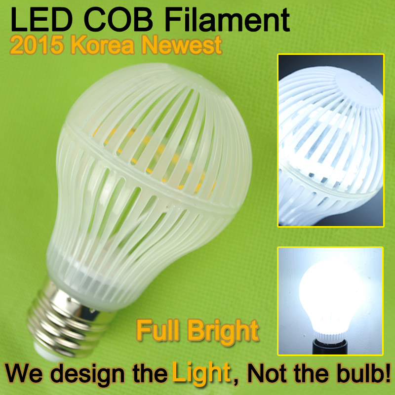 Гаджет  Korea LED Chips E27 12W COB Filament LED Bulb Light Lamp Edison bulb Warm Cold White 220V Lampada led Lampara Bombilla Ampoule None Свет и освещение