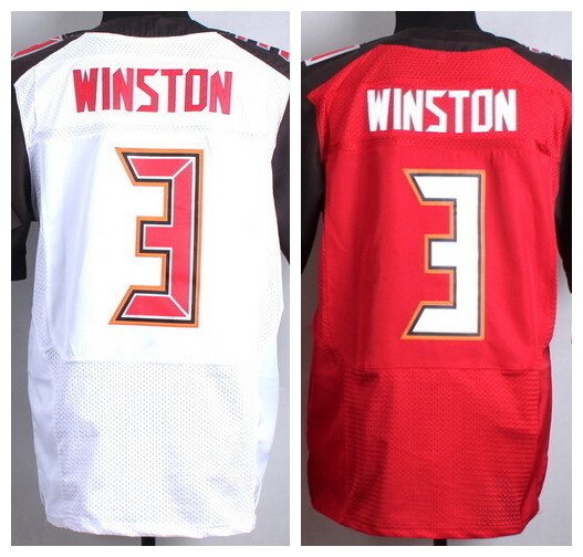 2015 Draft Jersey Tampa Bay#3 Jameis Winston Men Elite Football Jersey Winston,Size M-3XL Embroidery and Sewing Accept Mix Order(China (Mainland))