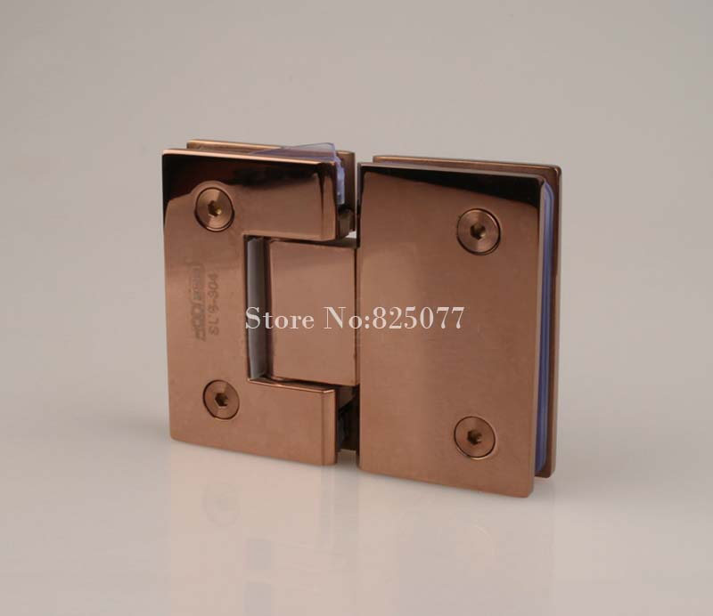 Rose Gold 180 Degree Hinge Open 304 Stainless Steel Glass Shower Door Hinges For Home Bathroom Furniture Hardware HM155(China (Mainland))
