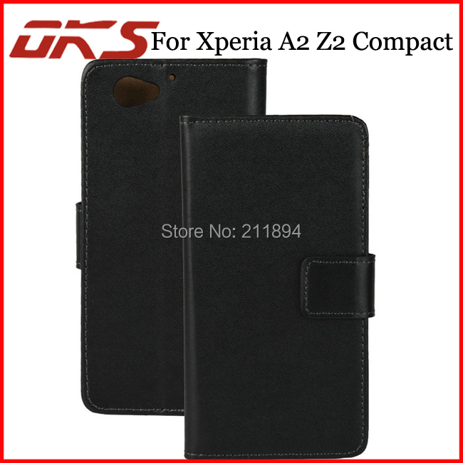 100pcs/Lot Genuine Wallet Leather Case For Samsung Galaxy A2 Z2 mini Z2 Compact(China (Mainland))