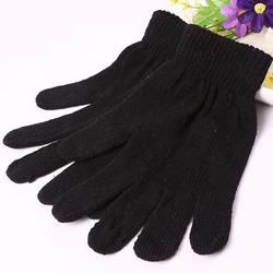 Перчатки черные вязанные