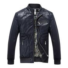 High Quality New Style Brand Luxury Fashion Men's  Leather Jacket 5XL Business Casual Haining Leather Jacket Men Coats PU D666(China (Mainland))