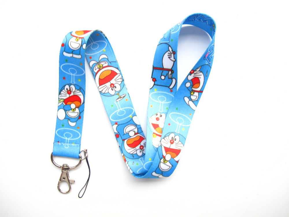 New 20Pcs Popular Cartoon Doraemon Style mobile Phone lanyard Key chain Strap Charm Gift Q2(China (Mainland))