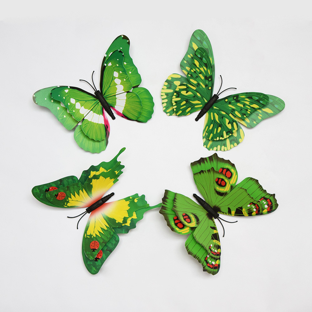 ZY King single / double perspective Creative 3d butterfly decoration accessories wall stickers bedroom wall with glue(China (Mainland))