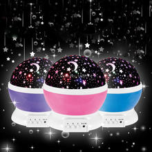 QH86 Amazing LED Rotating Star Moon Sky Flashing Colorful Light Projector Lamp Projects Projection For Kids Baby Bedroom(China (Mainland))