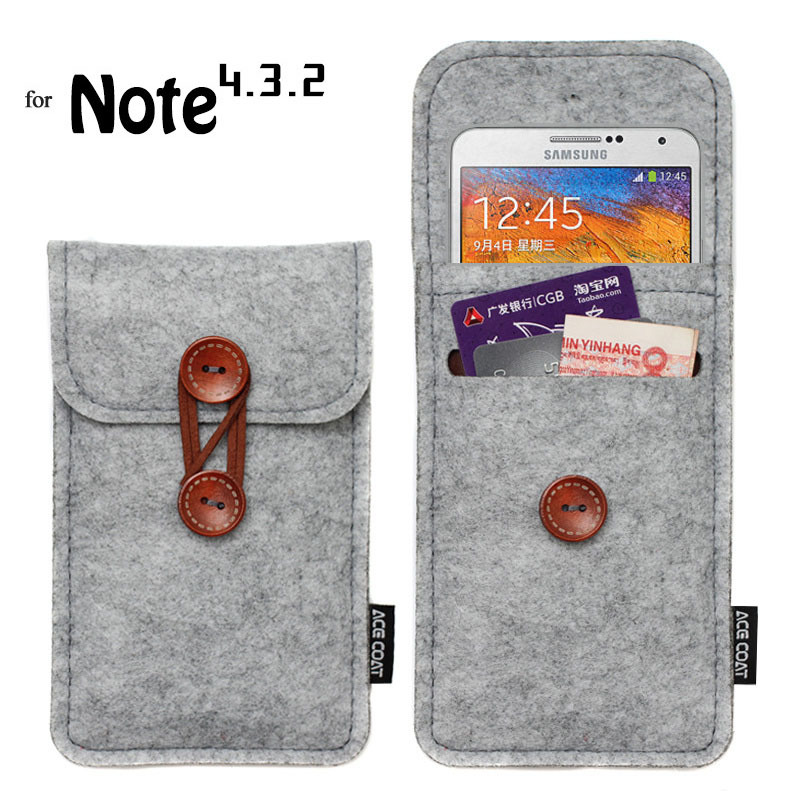 phone bag For samsung galaxy note4 case For galaxy note2,note3 N9000 bags mobile phone bags cases Case Cover Wool Felt Wallet(China (Mainland))