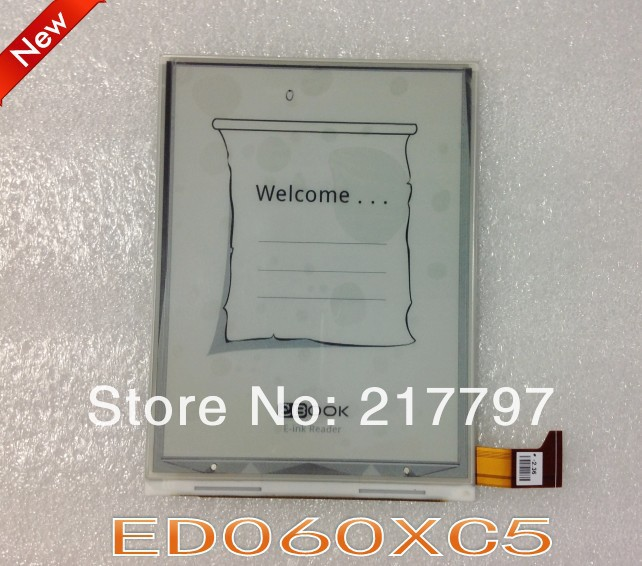 100% new original ED060XC5 (LF) LCD display, E-ink screen for e-book readers, free shipping<br><br>Aliexpress