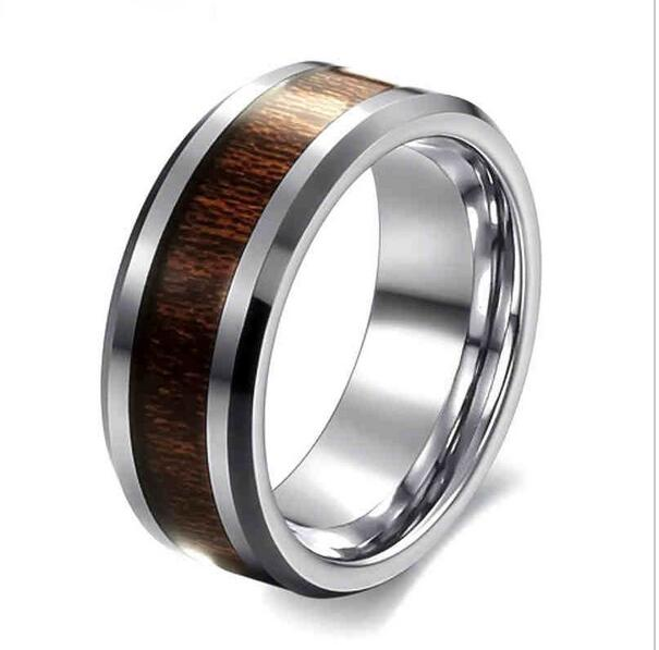 Europe and the United States retro wood ring 2017 creative drops of oil does not change color ring lovers simple ring(China (Mainland))