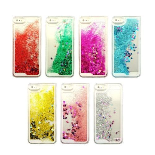Transparent Fashion Dynamic Liquid Glitter Colorful Paillette Sand Quicksand Back Case Cover For iPhone 5 5S Free Shipping(China (Mainland))