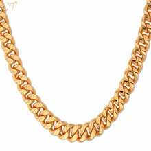 Buy U7 Brand Necklace Long/Choker Silver/Rose Gold/Black/Gold Color Cuban Link Chain Men Hip Hop Jewelry Wholesale N383 for $5.95 in AliExpress store